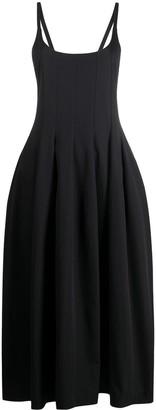 Jil Sander Flared Pleated Midi Dress