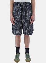 Marius Petrus Men's Long Printed Drawstring Shorts In Black And White