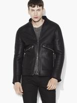 John Varvatos Shearling Moto Jacket