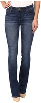KUT from the Kloth Natalie Kurvy Bootcut Jeans in Lift w/ Dark Stone Base Wash