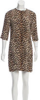 Equipment Silk Cheetah Print Dress