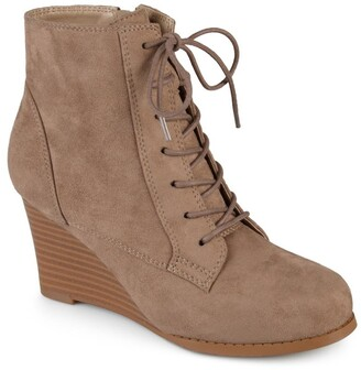 Journee Collection Magely Lace-Up Wedge Bootie