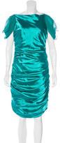 Badgley Mischka Embellished Satin Dress