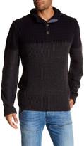 Weatherproof Two-Tone Waffle Knit Sweater