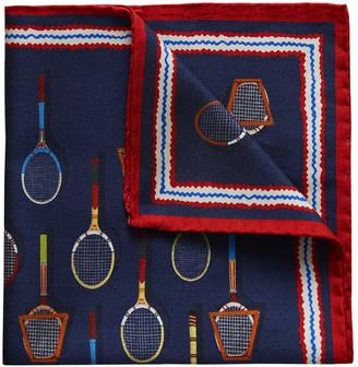 Eton Men's Cotton-Silk Tennis Racket Pocket Square