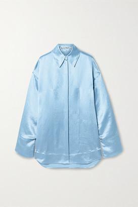 Acne Studios Charmeuse Shirt - Sky blue