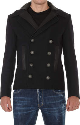 Balmain Two Collar Double Breasted Coat