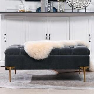 Jennifer Taylor Estelle Upholstered Tufted Storage Bench Cocktail Ottoman