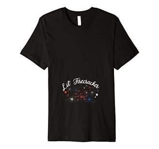 4th of July Pregnancy Announcement Shirt Lil Firecracker Premium T-Shirt
