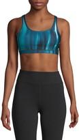 Wear It To Heart Striped Strappy Sports Bra