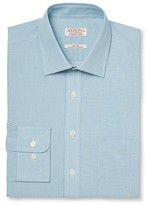 Merona Men's Ultimate Dress Shirt Aqua Stripe