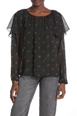 Wildfox Couture Bethany Floral Print Blouse