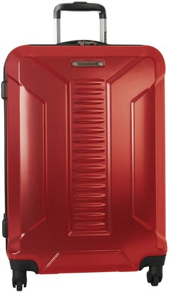 """Timberland Red Glencliff 24"""" Hardside Expandable Spinner Suitcase"""