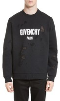Givenchy Men's Distressed Logo Graphic Sweatshirt