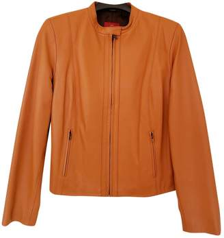 Cole Haan Orange Leather Jacket for Women