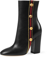 Gucci Carly Mid-Calf Globe Bootie, Black