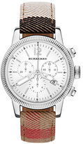 Burberry Chronograph Stainless Steel & Check Strap Watch