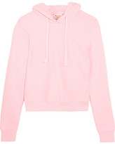 Vetements + Champion Appliquéd Cotton-blend Jersey Hooded Top - Baby pink