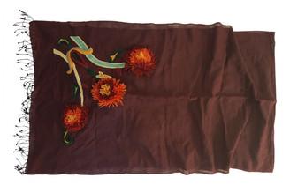 Antik Batik Burgundy Silk Scarves