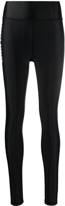 Rotate by Birger Christensen Slogan-Print Stretch-Fit Leggings
