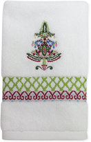 Dena Peppermint Twist Embroidered Fingertip Towel