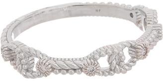 Judith Ripka Little Luxuries Silver Diamond Ring