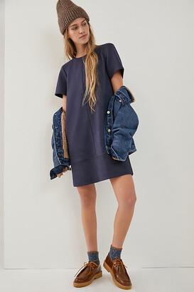 Anthropologie Hayden Sueded Tee Dress By in Blue Size XS