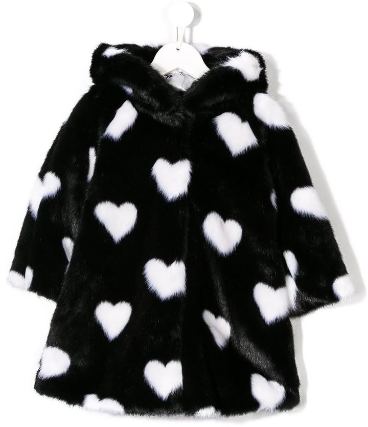 MonnaLisa Love-Heart Faux Fur Coat