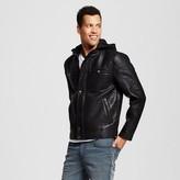 Men's Faux Leather Hooded Coat - Urban Republic