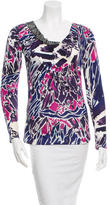 Emilio Pucci Printed Sequin Embellished Top