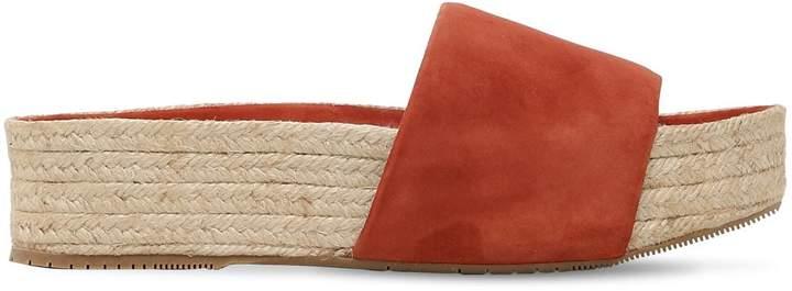Paloma Barceló 40mm Platform Suede Sandals