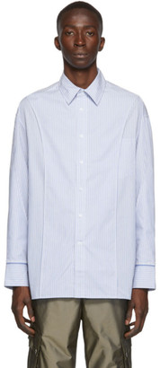 Feng Chen Wang Blue Layered Shirt