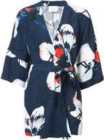 Just Female Anna floral wrap blouse
