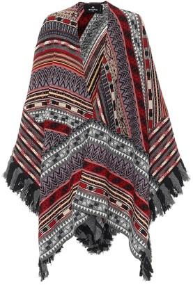 Etro Wool-blend poncho