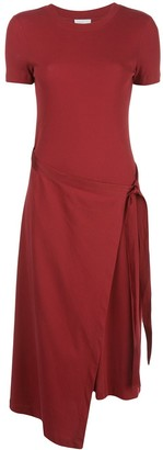 Rosetta Getty Asymmetric Hem Jersey Dress