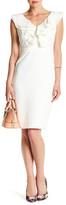 Taylor Ruffle V-Neck Sheath Dress