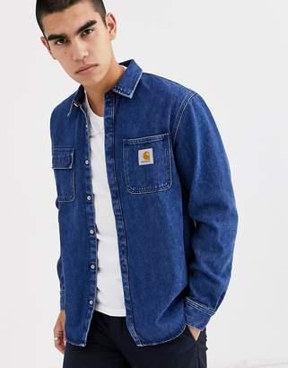 Carhartt Wip WIP Salinac shirt jacket in stone washed blue