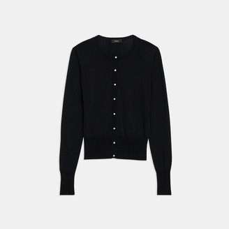 Theory Cardigan in Silk-Cotton