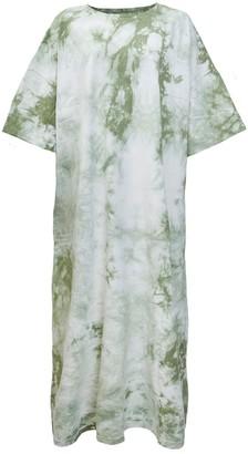 Damson Madder Tie Dye Maxi Tshirt Dress