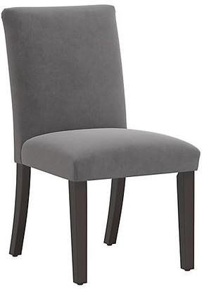 One Kings Lane Shannon Side Chair - Gray Velvet