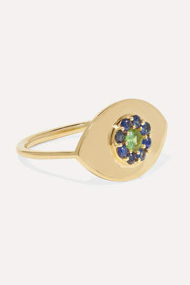 Ileana Makri Blossom Eye 18-karat Gold, Sapphire And Tsavorite Ring - 3