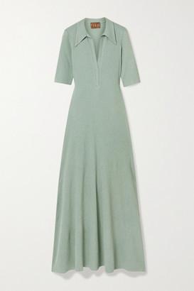 ALBUS LUMEN Cotton-blend Jersey Maxi Dress - Green