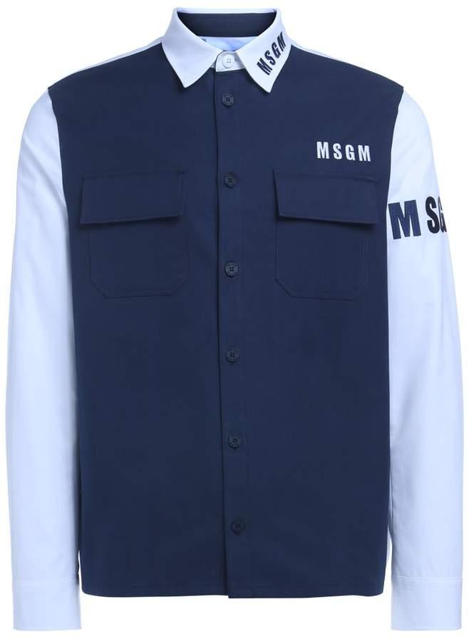 MSGM Blue And White Shirt