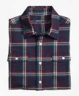 Brooks Brothers Holiday Plaid Flannel Sport Shirt