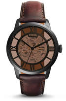 Fossil Townsman Automatic Dark Brown Leather Watch