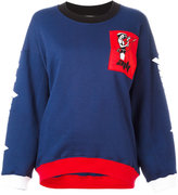 Au Jour Le Jour colour block patch sweatshirt - women - Cotton/Polyester - 40