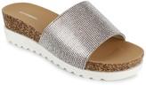 UNIONBAY Gracie Crystal Embellished Platform Wedge Sandal