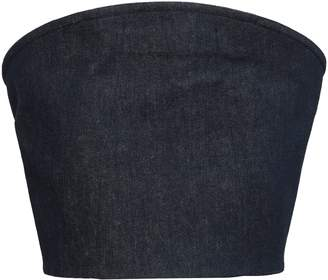 Thierry Mugler Embellished Denim Mini Skirt