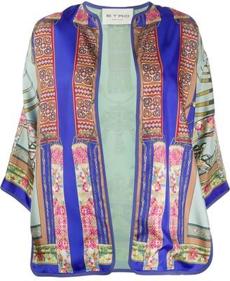 Etro Scarf Print Kimono Jacket