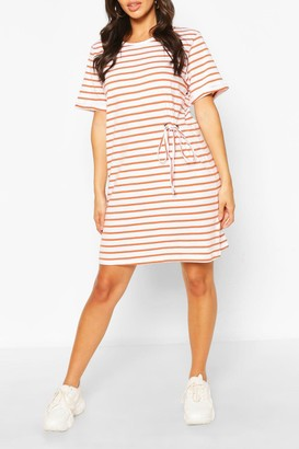 boohoo Striped T-shirt Dress